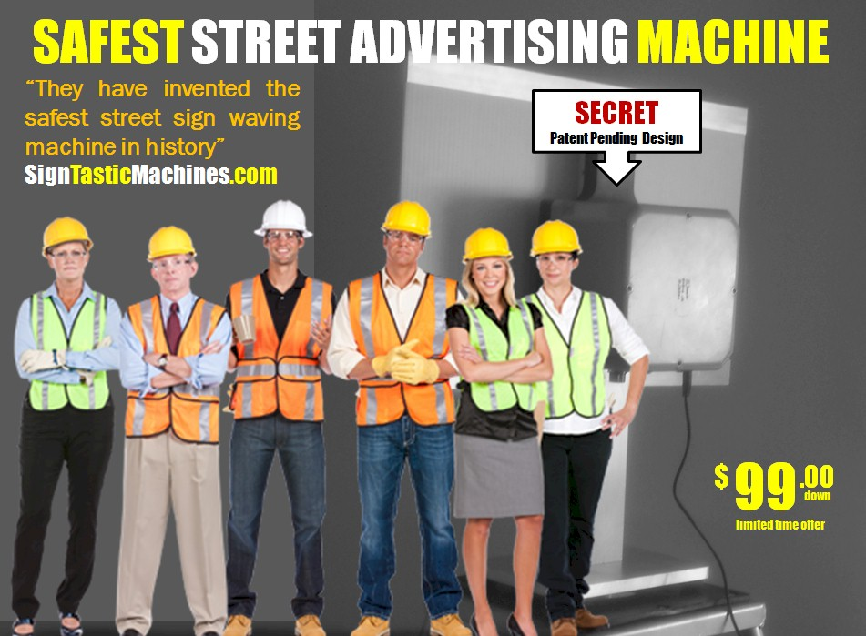 how to build a sign waving machine